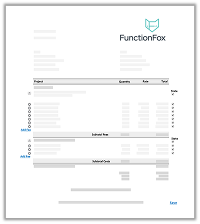 FunctionFox product image edit view of invoice