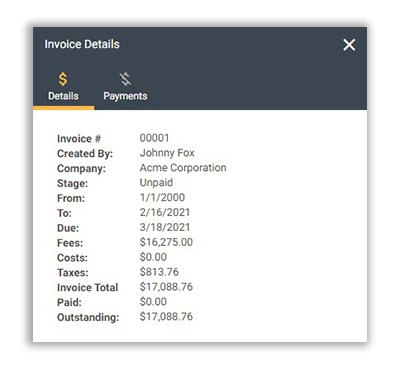 FunctionFox product image viewing invoice details