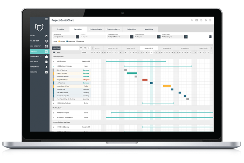 FunctionFox Lite time and project management platform