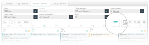 FunctionFox product image view Project Calendar.