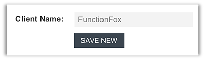 FunctionFox product image entering in a client name.