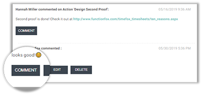FunctionFox product image commenting against anothers post.
