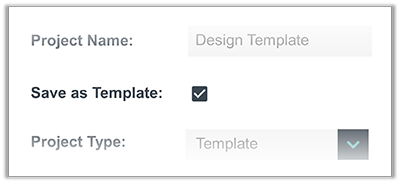 FunctionFox product image saving a project as a template