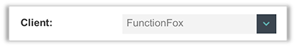 FunctionFox product image select client menu.