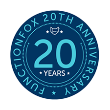 Celebrating 20 years. Get 20/20 insight into your reative Business with FunctionFox.